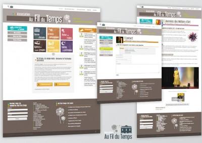 Site portail de l'association Au Fil du Temps