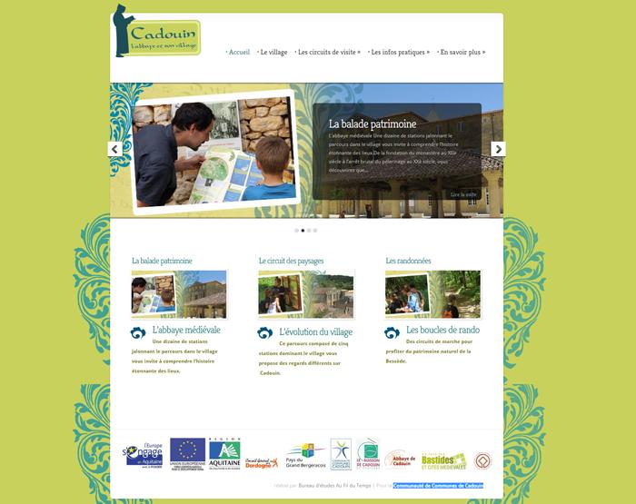 Site internet des sentiers d'interprétations de Cadouin