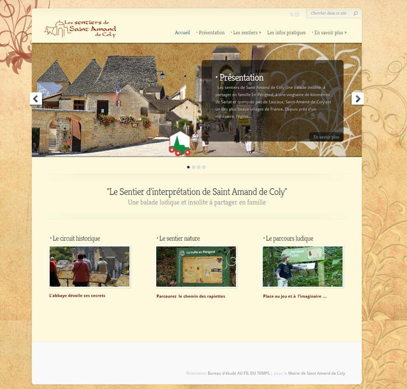 Site internet des sentiers d'interprétation de Saint Amand de Coly (24)