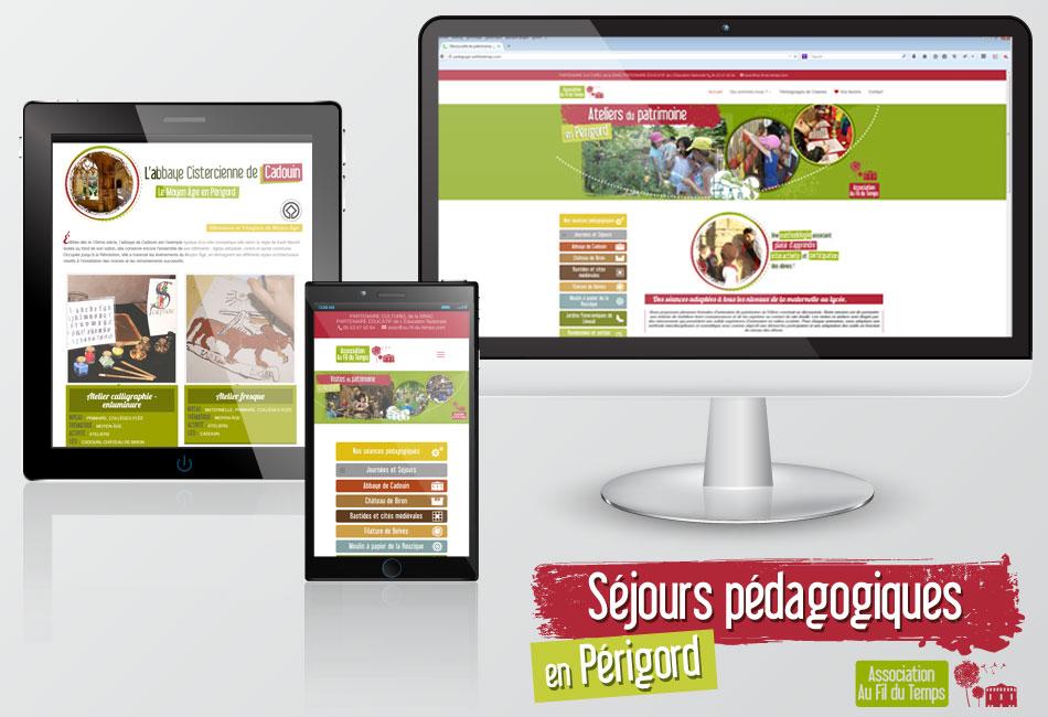 Site internet Séjours Pédagogiques