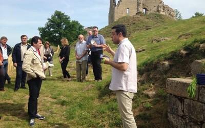 Lancement de l'audioguide et de la signalétique d'interprétation de la forteresse de  Crozant  (Creuse)