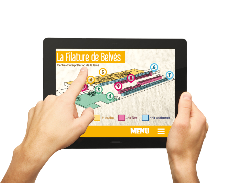 Application de visite à la Filature de Belvès