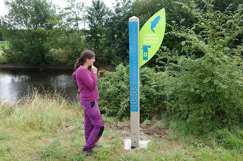 Sentier bio-inspiré sur le site de Landaudrie, Rancogne (16)