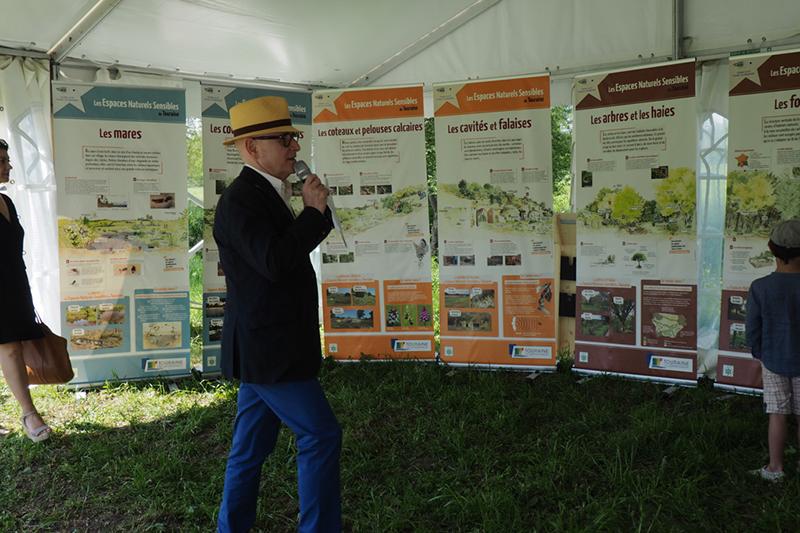 Exposition et borne interactive de visite des Espaces Naturels Sensibles d'Indre-et-Loire