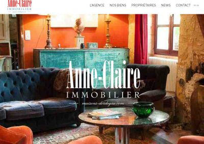 Site web Anne-claire immobilier