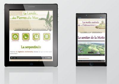 Site mobile des sentiers de La Porcherie