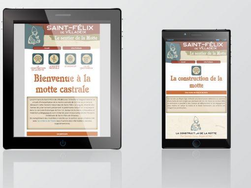 Site mobile du sentier de Saint Félix de Villadeix